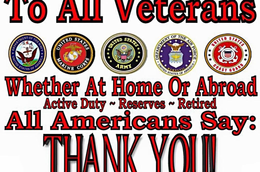We Salute all Veterans!